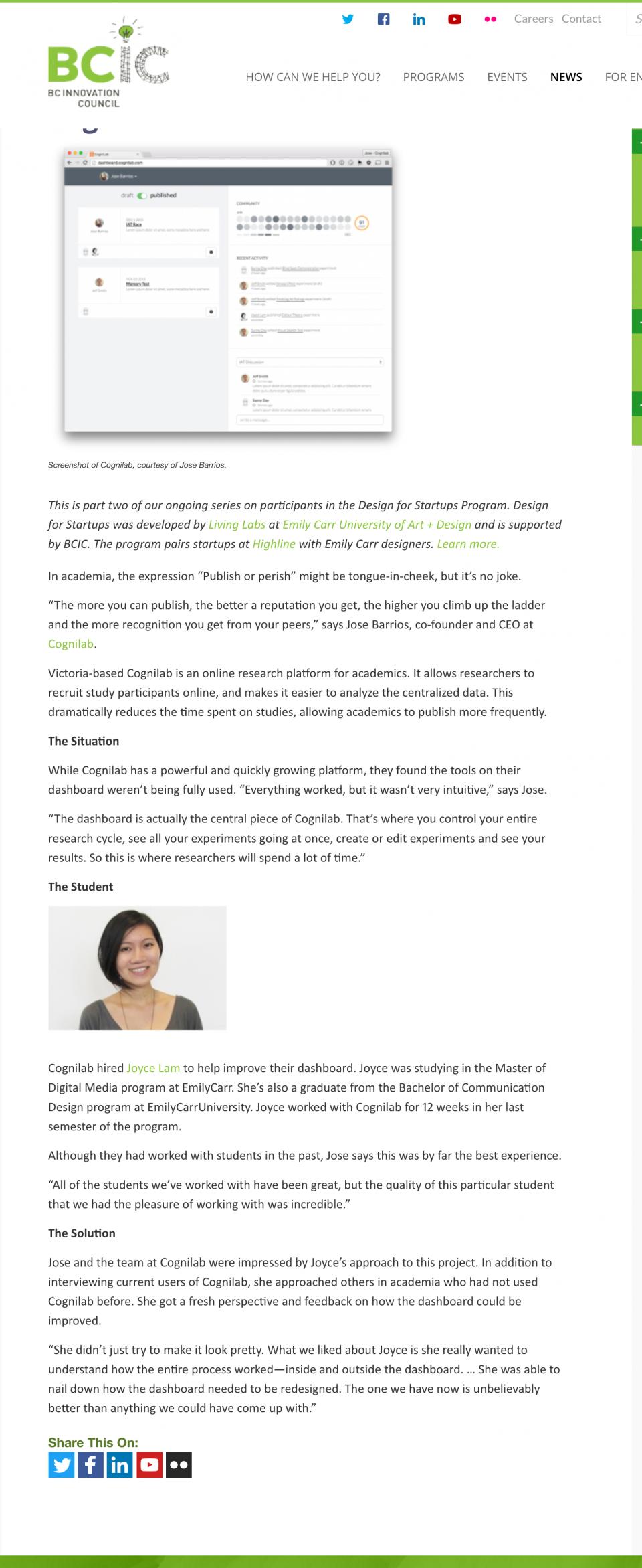 Design for Startups Success Story Cognilab BCIC copy